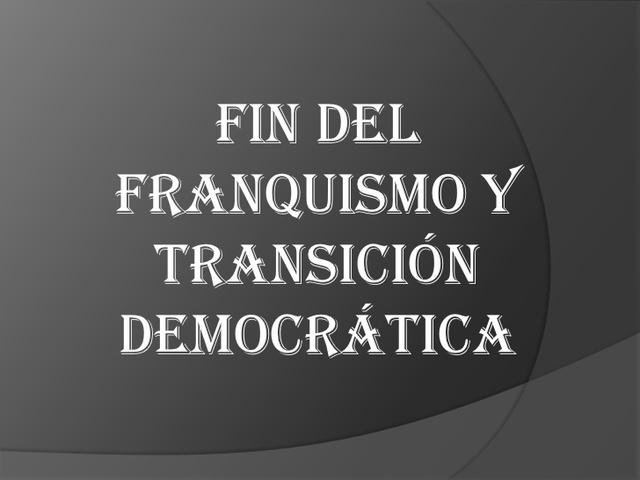 Muere el general Franco y comienza la tansición democrática