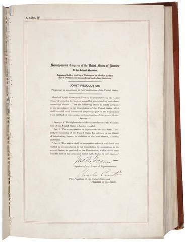 21st Amendment to the U.S. Constitution