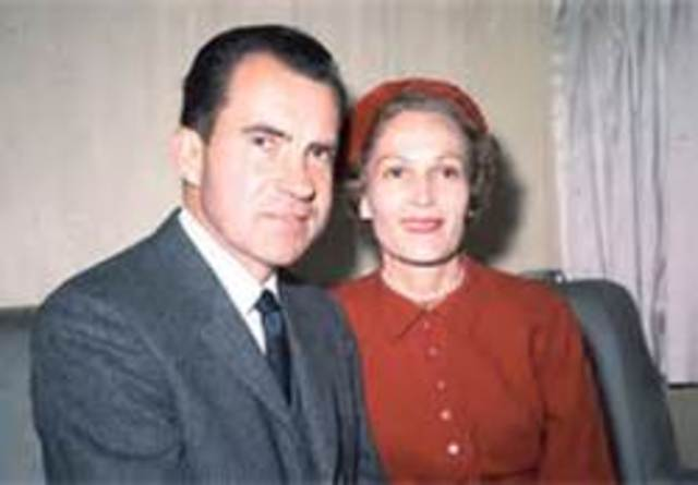 RICHARD NIXON HAS A BABY WITH HIS WIFE