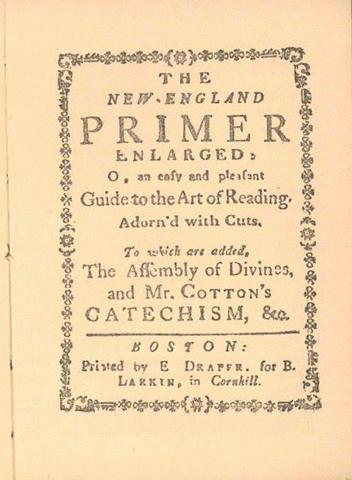 The New England Primer Publishes