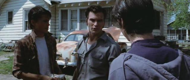 Ponyboy argued with Darry; Pony slept with Soda at night(1)