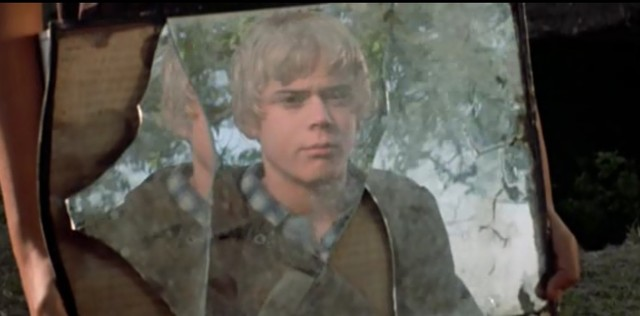 .Ponyboy and Johnny disguised to hide from the police(2)