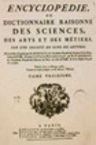 Collaboration à l'Encyclopédie de Diderot et d'Alembert.
