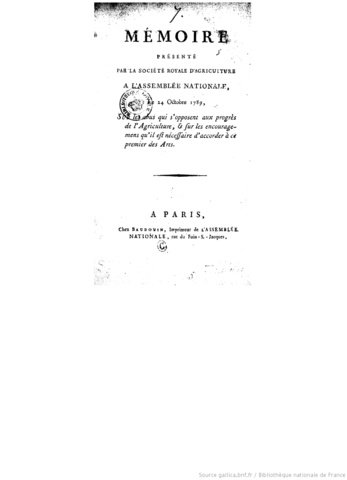 Société Royale d'agriculture de Paris