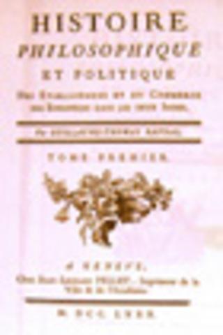 Impression de la troisième édition de l'Histoire des deux Indes