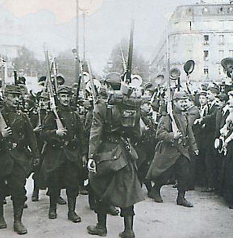 Début de la Grande Guerre