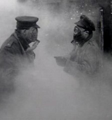 Horreur, les gaz asphyxiants