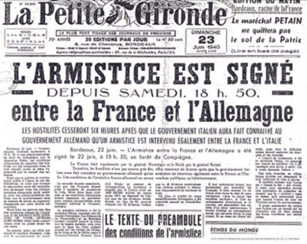 Pétain demande l'armistice