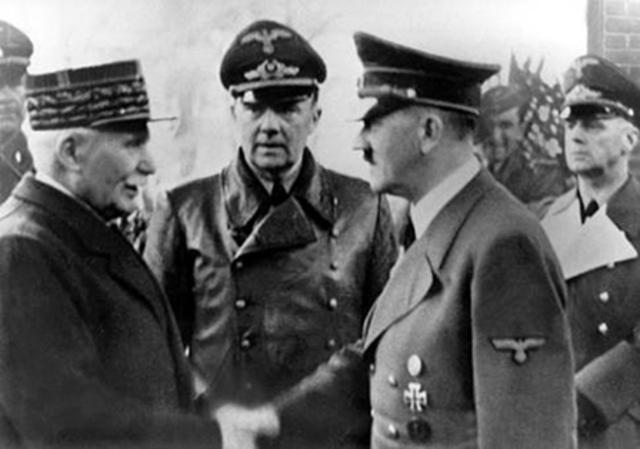 Rencontre de Pétain et d'Hitler