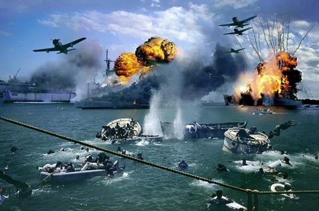 Les Japonais attaquent Pearl Harbor