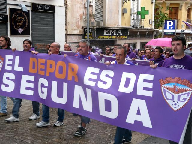 Manifestación en apoyo del Dépor