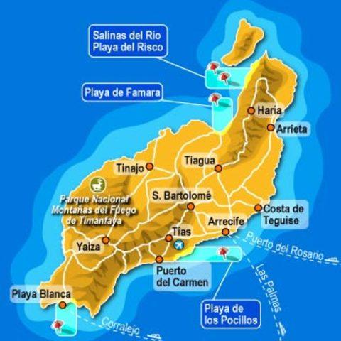 Carta de Lanzarote, Islas Canarias, España