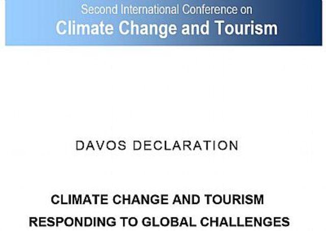2da. Declaracion de Turismo y Cambio Climatico en Davos, Suiza