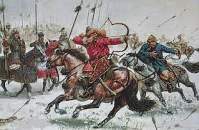 Mongol Army Attacks Japan