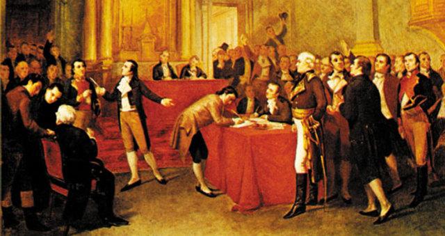 Se realizo la Firma de el Acta de la Independencia