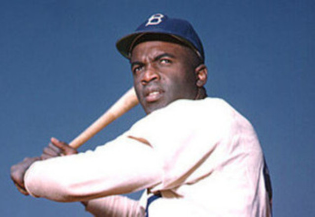 Jackie Robinson breaking the color barrier.