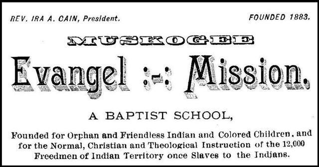 Evangel Mission School: Creek Freedmen School