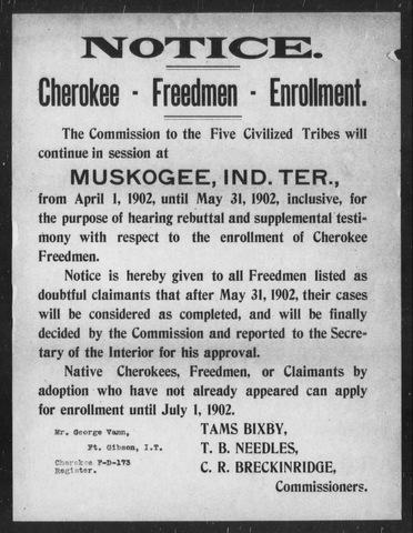 False Claims of Cherokee Freedmen Status