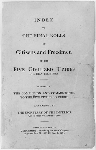 Creek Nation Final Rolls: Freedmen