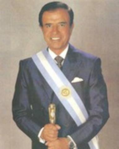 Presidencia de MENEM, Carlos Saúl(1989-1995): 1er Presidencia