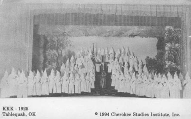 Cherokee KKK Meeting