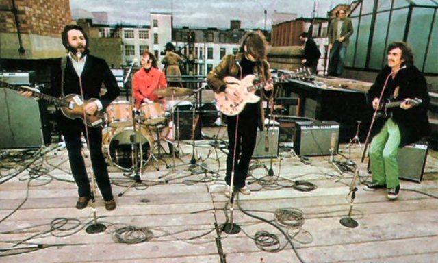 Último concierto de The Beatles en la azotea de los estudios Apple
