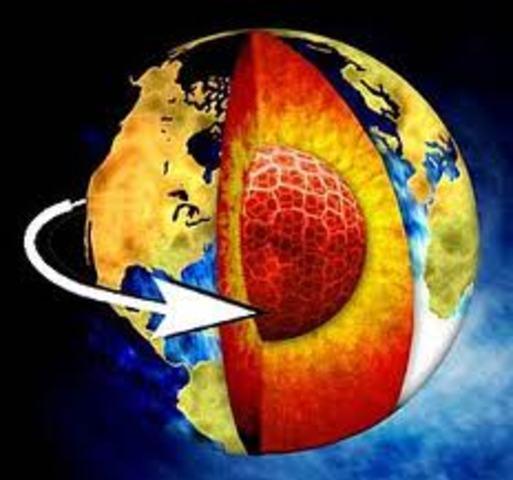 Se detecta la rotación del núcleo interno de la Tierra