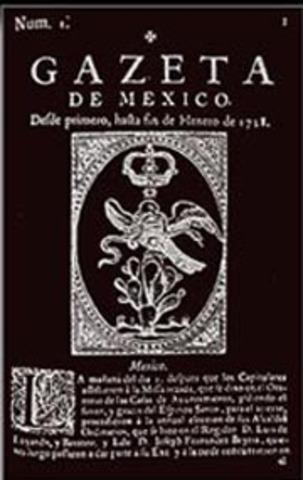 Primer periódico en México