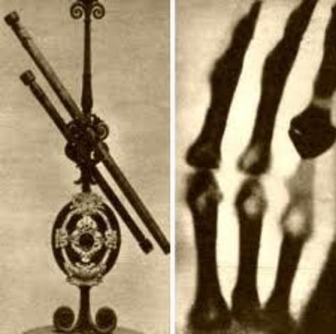 Se descubren los rayos X y se estudian sus propiedades