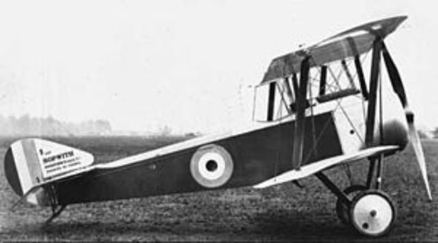 First fighter plane built by Sopwith is first flown