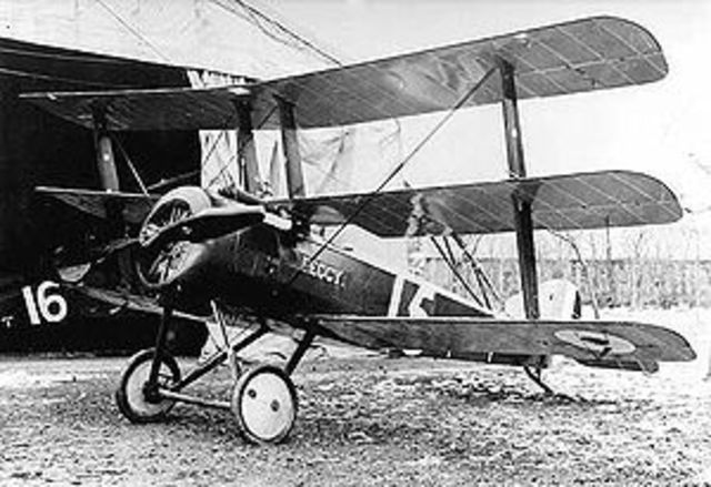First triplane to be used in the war built by Sopwith