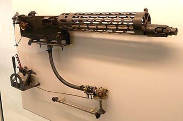 First successful interrupter gear built