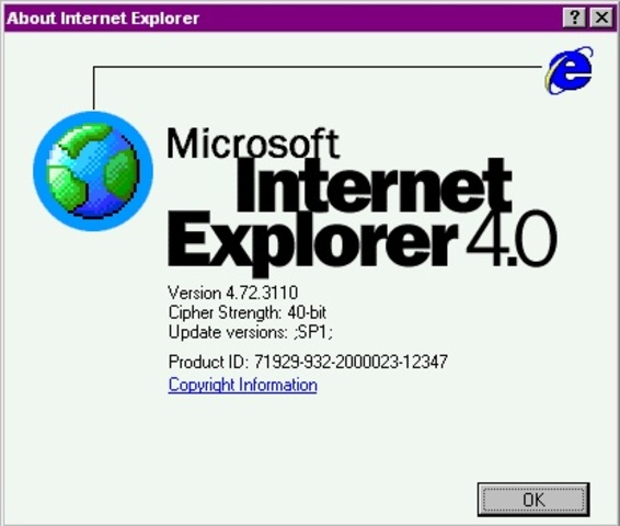 Internet Explorer 4, Microsoft