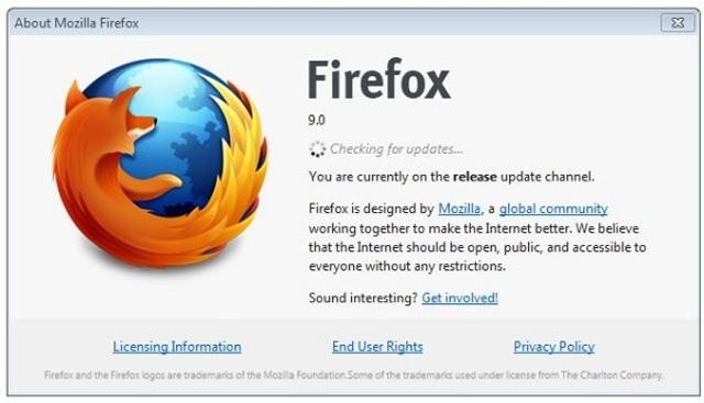 Versión 9, Mozilla Firefox
