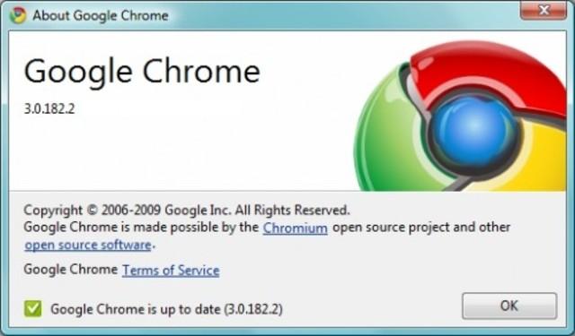Versión 3.0, Google Chrome