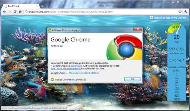 Versión 7.0, Google Chrome