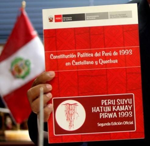 Aprobación y promulgación de la Constitución Política del Perú