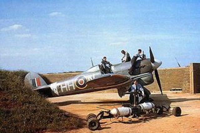 Hawker Typhoon bomber built