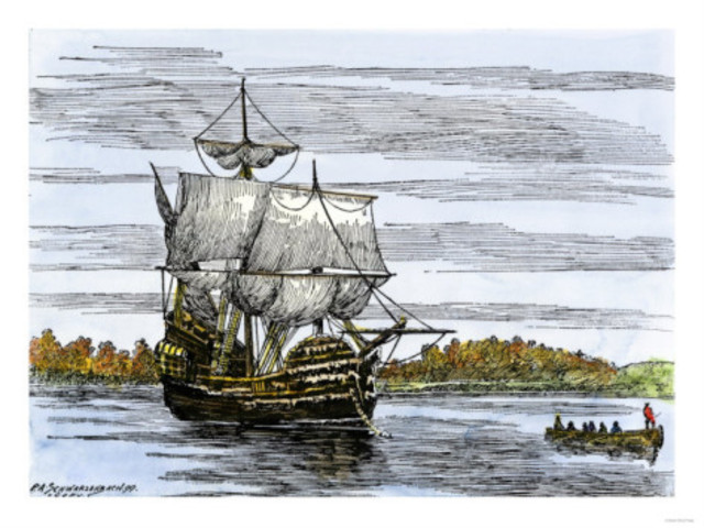 The Mayflower Landed and Puritans Settled