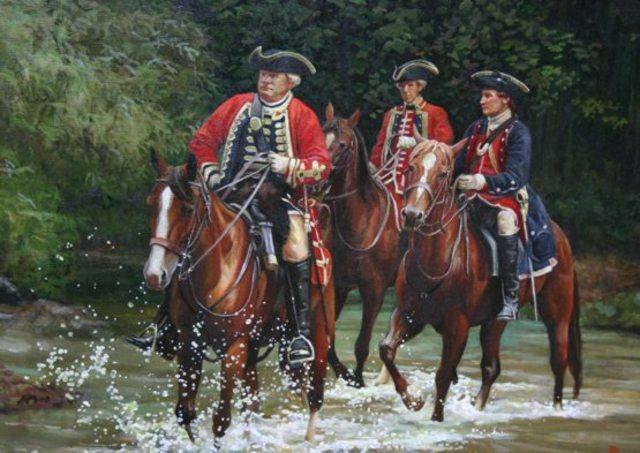 General Edward Braddock and George Washington