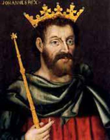 La Carta Magna en Inglaterra limita el poder del rey y crea el Parlamento