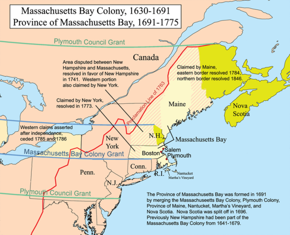 Massechusets Bay Colony Charter Issued