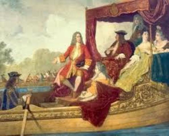 Handel moved to London and became Kapellmeister to German prince Georg