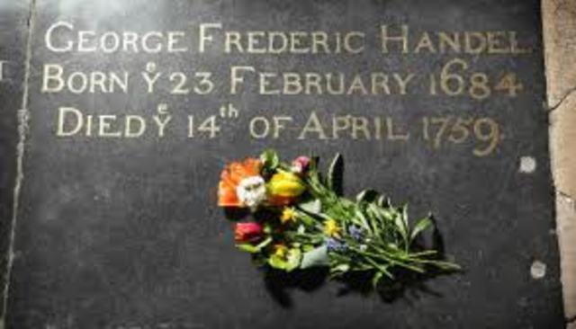Handel died in London