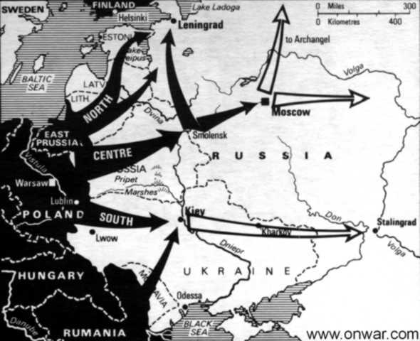 Germany and Axis powers Invade Soviet Union