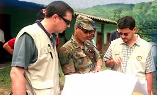 Mision de Verificacion en la frontera entre Honduras y Nicaragua