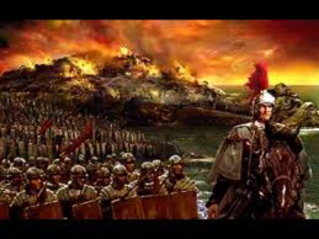 Comienzo del imperio romano