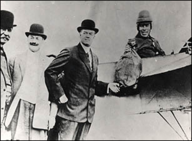 First official airmail flight