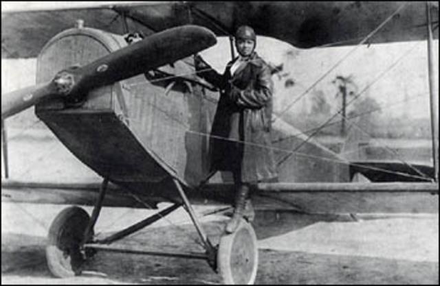 First public flight of a black woman