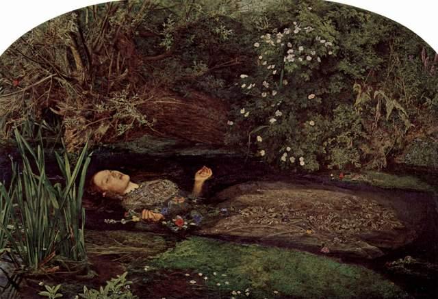 John Everett Millais paints 'Ophelia'